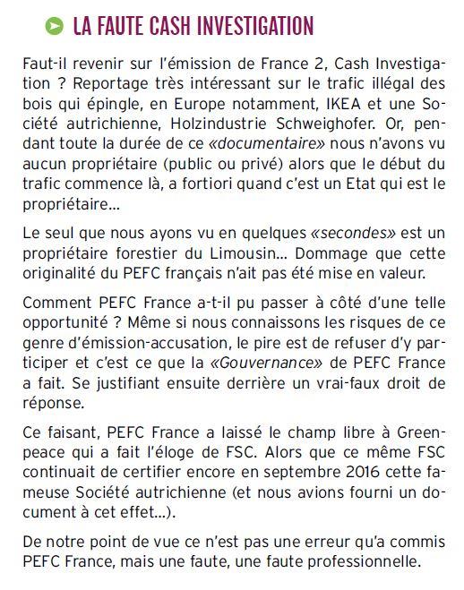 PEFC courrier E. LUCET