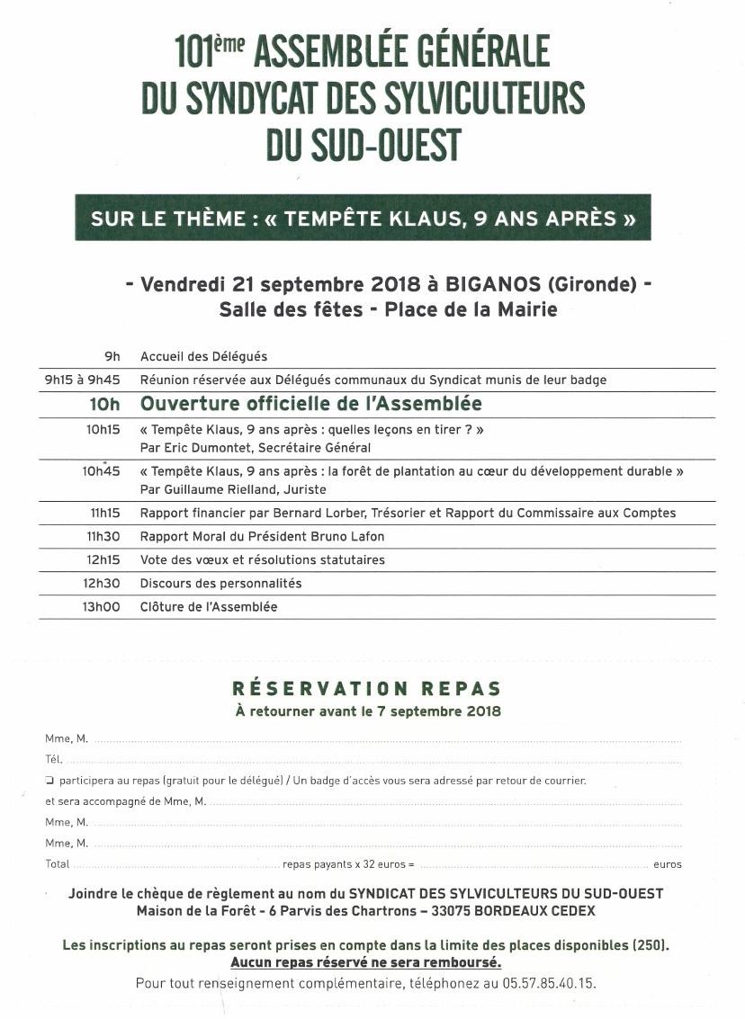 Programme ag 2018