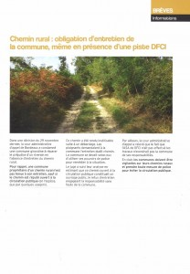 Article chemin rural
